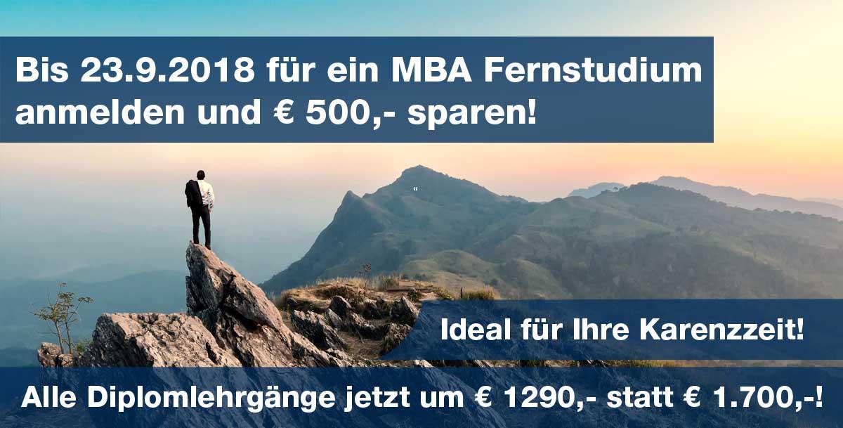 Berufsbegleitende MBA Fernstudiengänge / mit oder ohne Präsenz / in ...