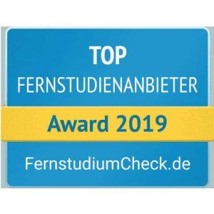 Top Fernstudiumanbieter Award 2019 Fernstudiu,Check.de