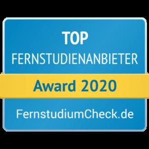 Top Anbieter MBA Fernstudium Award von FernstudiumCheck.de