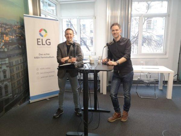 Manuel Fink und Thomas Sommeregger bei der Aufnahme vo ELG Podcast #3