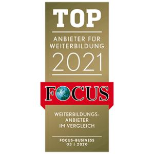 Top Anbieter für Weiterbildung Focus Auszeichnung