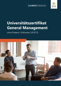 Infobroschüre Universitätszertifikat General Management