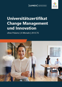 Info-Folder Universitätszertifikat Change Management & Innovation