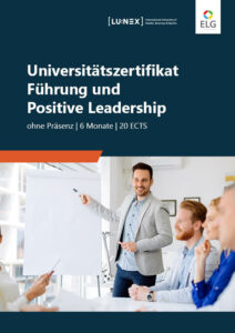 Infobroschüre Universitätszertifikat Führung & Positive Leadership