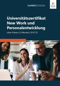 Infobroschüre Universitätszertifikat New Work und Personalentwicklung